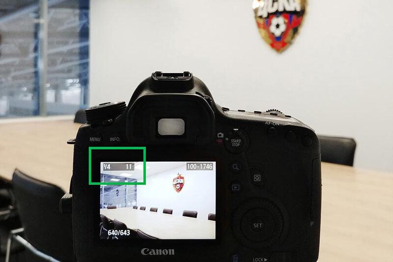 параметры съемки на фотоаппарате