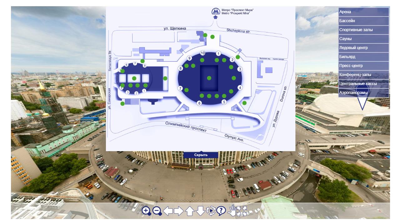 карта план территории в 3D туре